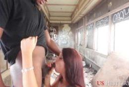 Ruchanko w opuszczonym pociągu