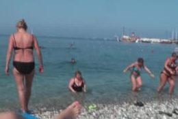 Napalona para rucha się na wakacjach