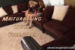 Masturbacja z wibratorem w roli głównej